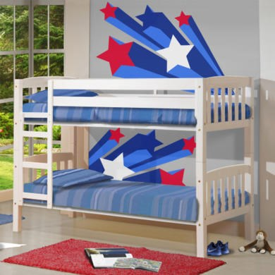 Verona Design America White Short Single Bunk Bed - 90x160cm