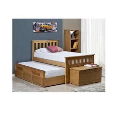 Verona Design Bergamo Captains Guest Bed in Antique Pine