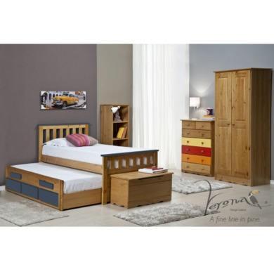 Verona Design Bergamo Captains Guest Bed in Antique Pine and Blue