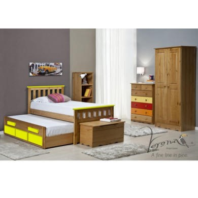 Verona Design Bergamo Captains Guest Bed in Antique Pine and Lime