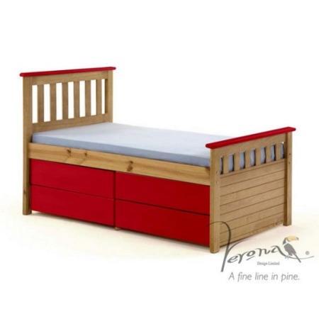 Verona Design Ferra Captain S Single Storage Bed With 4