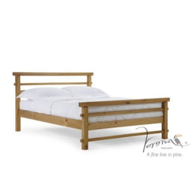 Verona Design Lecco Small Double Bed Frame in Antique Pine
