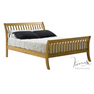Verona Design Parma Double Bed Frame in Antique Pine