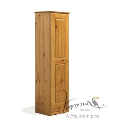 Verona Design Verona 1 Door Wardrobe in Antique Pine