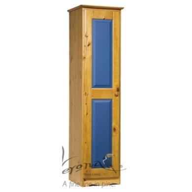 Verona Design Verona 1 Door Wardrobe in Antique Pine and Blue