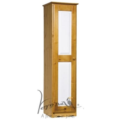 Verona Design Verona 1 Door Wardrobe in Antique Pine and White