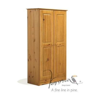 Verona design verona 2 door wardrobe in antique pine for Furniture 123 wardrobes