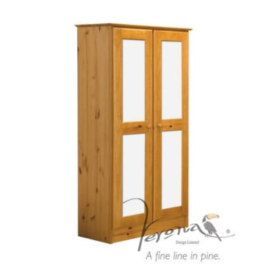 Verona Design Verona 2 Door Wardrobe in Antique Pine and White