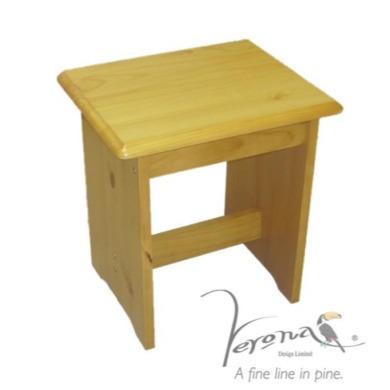 Verona Design Verona Dressing Table Stool in Antique Pine