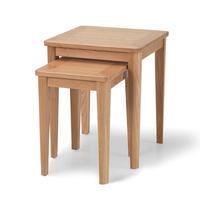 GRADE A2 - Campbell Solid Oak Nest of Tables