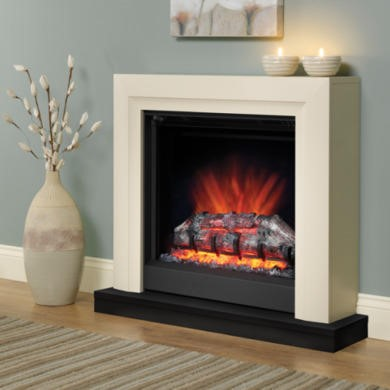 Be Modern Perthshire 34inch Electric Fire in Ivory