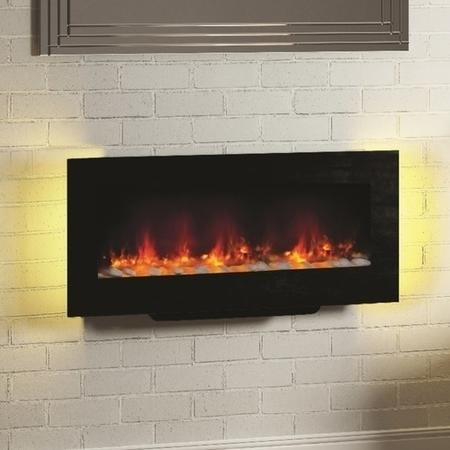 Amari Black Wall Mounted or Free Standing Electric Fire- Be Modern Range