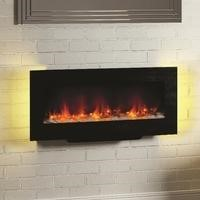 GRADE A1 - Be Modern Amari Electric Fireplace in Black