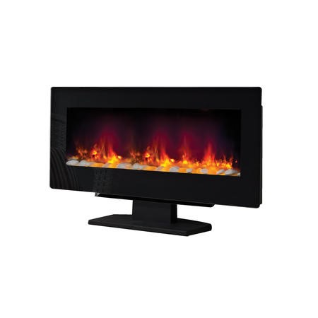 Be Modern Amari Electric Wall Mounted or Free Standing Fire in Black