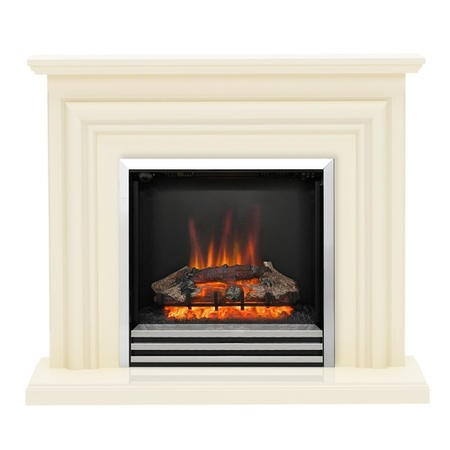 Be Modern Carina Eco Electric Suite Fireplace in a Cream Finish