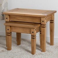 Seconique Salvador Solid Pine Nest of Tables