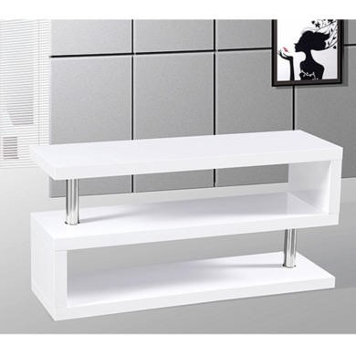 Miami High Gloss White TV Stand