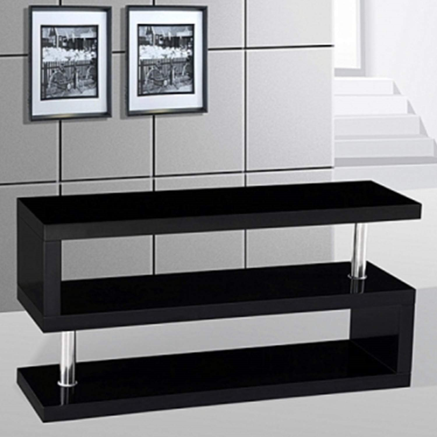 Merveilleux GRADE A2   Miami High Gloss Black TV Stand