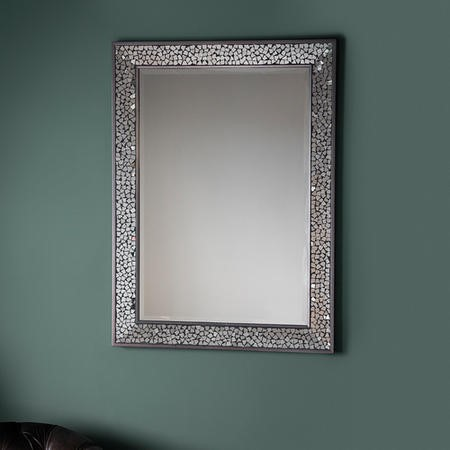 Bronte Rectangle Mirror With Mosaic Effect Frame