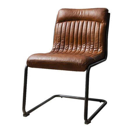Capri Leather Chair - Industrial Office Chair in Antique Tan