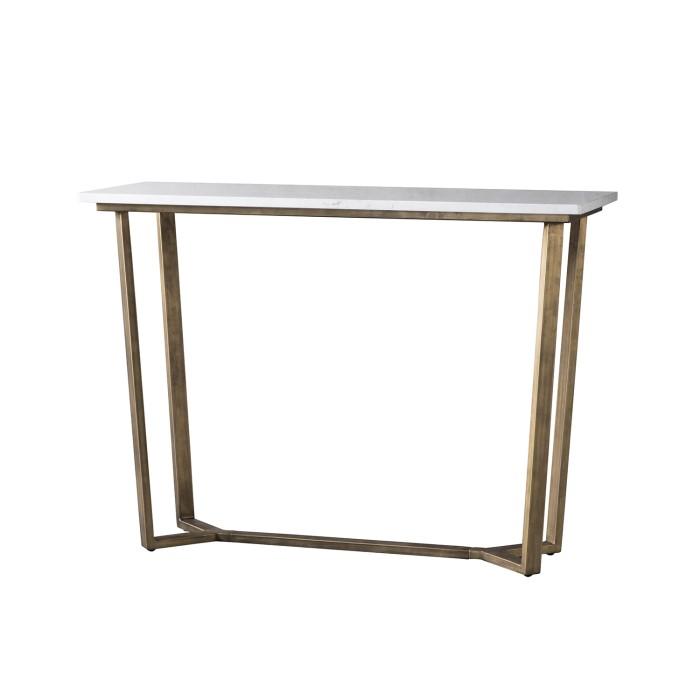 Gallery Cleo Console Table With Marble Top Furniture123