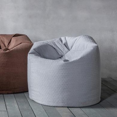 Delta Bean Bag Chair in Silver Felt Fabric