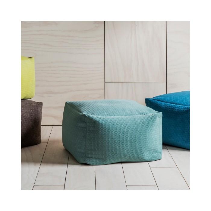 Elder Square Bean Bag Chair In Duck Egg Blue Furniture123