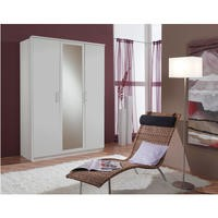 Evoque White Triple Wardrobe with Mirrored Door