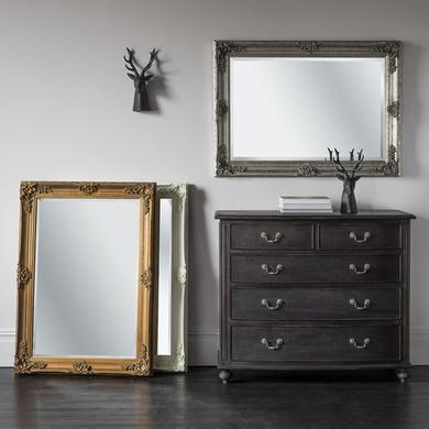 Abbey Rectangle Mirror Silver