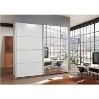 Evoque Mirrored Sliding Door Wardrobe with Crystal Effect Detail