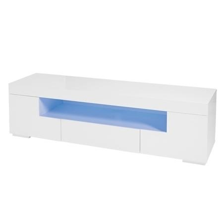 LPD Milano White High Gloss LED TV Unit - TV's up to 65""