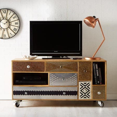 Sorio Multi Drawer Reclaimed Wood TV Unit