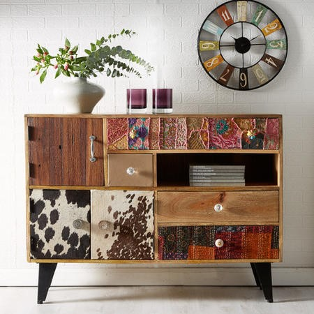 Sorio Large Mutli Drawer Reclaimed Wood Sideboard