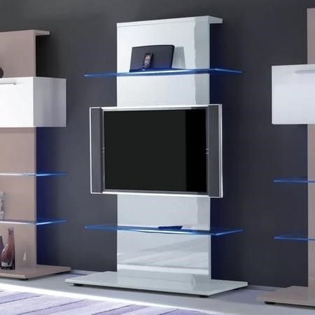 Evoque White High Gloss Led Tv Stand Media Unit Holds 65 Inch Tv Furniture123