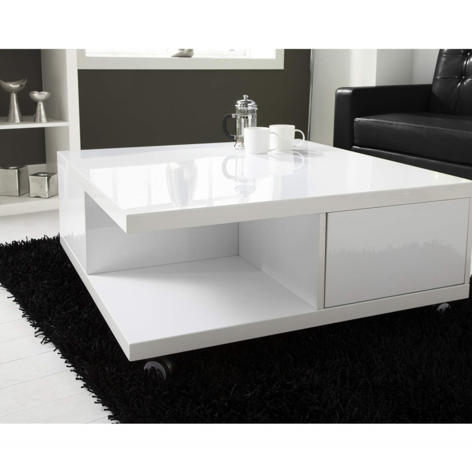 High gloss white storage coffee table tiffany range - How high should a coffee table be ...