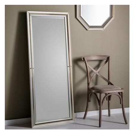 Gallery Vogue Rectangular Pale Gold Leaner Mirror