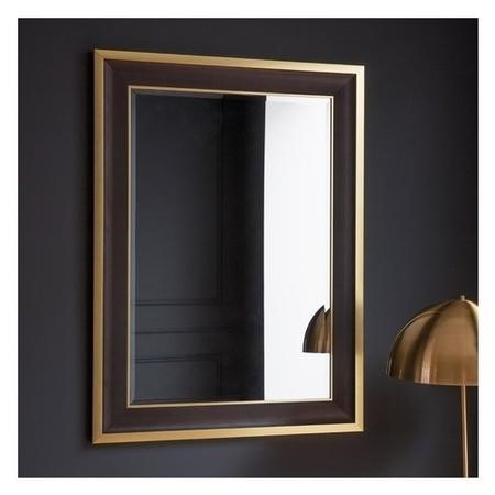 Gallery Edmonton Black and Gold Rectangle Mirror