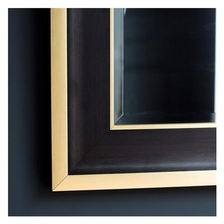 Edmonton Black and Gold Rectangle Mirror