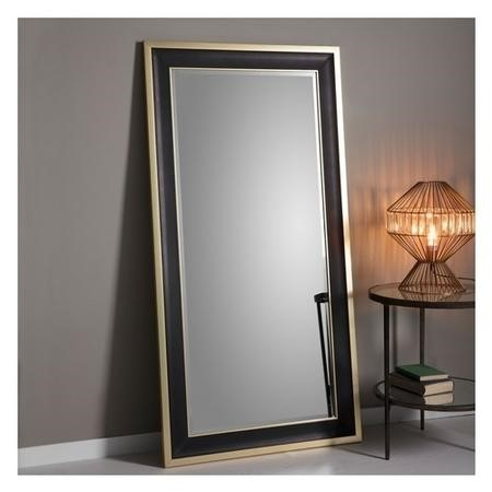 Gallery Edmonton Black and Gold Leaneor Mirror