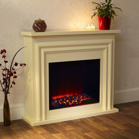 Suncrest Skipton Electric Fireplace Suite in Soft White