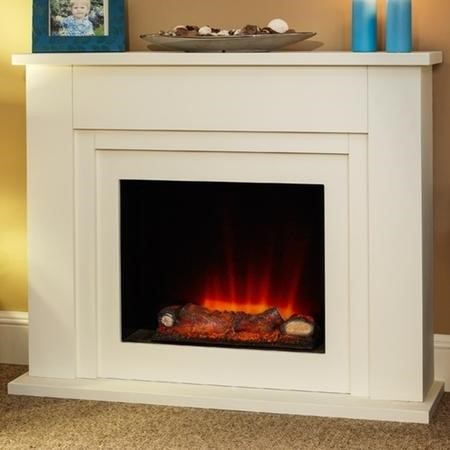 Suncrest Bedale Electric Fireplace Suite in Soft White