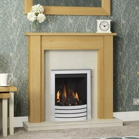 "Hainsworth 44"" Natural Oak Effect Fire Surround- Be Modern Range"