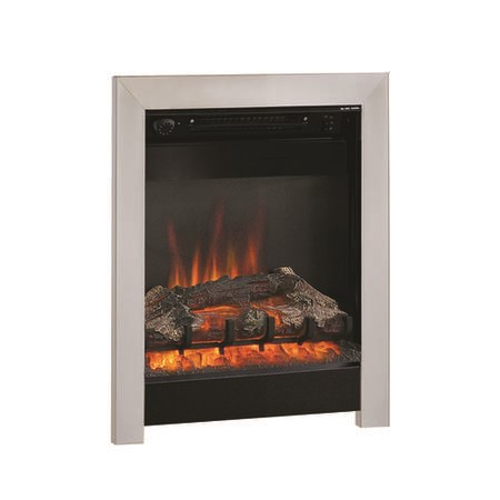 "BeModern Athena 16"" Electric Inset Fire in Chrome & Black"