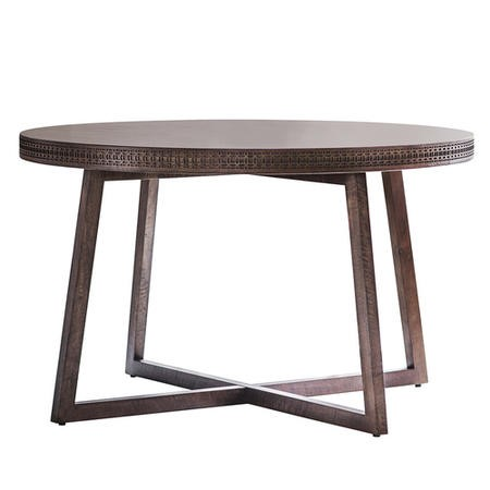 Gallery Boho Retreat Solid Wood Round Dining Table