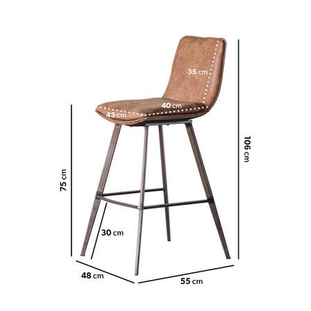 Gallery Palmer Faux Leather Vintage Bar Stools Set of 2