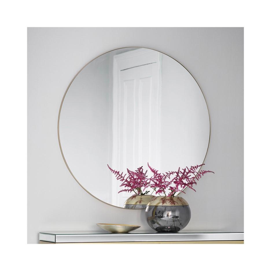 Gallery Hayle Champagne Round Mirror Furniture123
