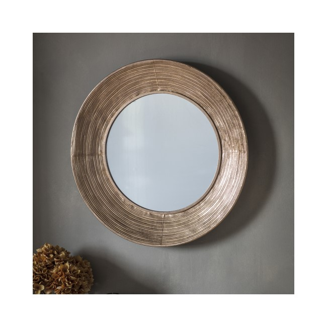 Gallery Knowle Gold Round Mirror