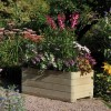 Rowlinson Outdoor Marberry Wooden Rectangular Planter