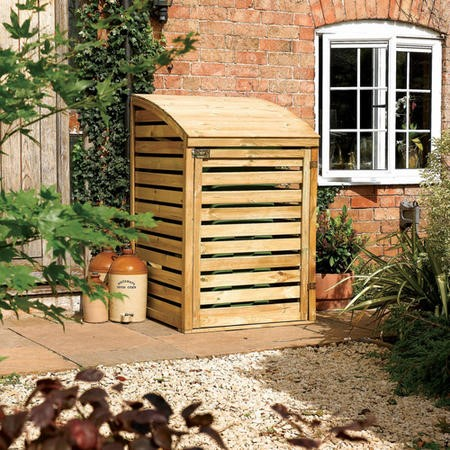 Rowlinson Wooden Single Bin Store