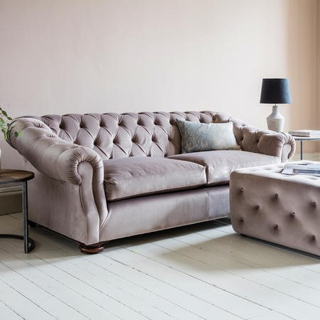 Incroyable Gallery Hampton Chesterfield Sofa In Upholstery Fabric   Brussels Taupe